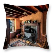 Victorian Cottage Throw Pillow by Adrian Evans