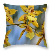 Victorian Exotic Blooms Throw Pillow by Sonali Gangane