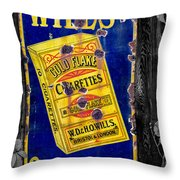Victorian Sign Throw Pillow by Adrian Evans