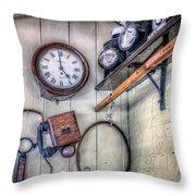 Victorian Train Memorabilia Throw Pillow by Adrian Evans