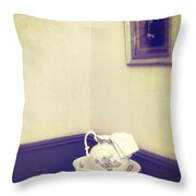 Victorian Wash Basin And Jug Throw Pillow by Amanda And Christopher Elwell