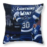 Victory Throw Pillow by Marlon Huynh