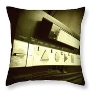 Video Recorder Throw Pillow by Les Cunliffe