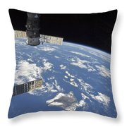 View From Space Showing Part Throw Pillow by Stocktrek Images