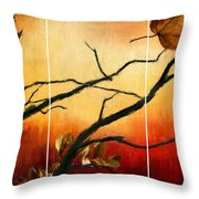 View Of Autumn Throw Pillow by Lourry Legarde