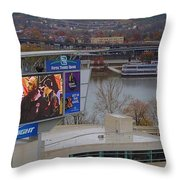View Of Cincinnati Throw Pillow by Dan Sproul