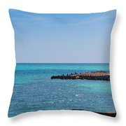 View Through The Walls Of Fort Jefferson Throw Pillow by John M Bailey