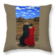 View West Throw Pillow by Lance Headlee