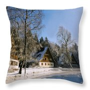 Village Throw Pillow by Aged Pixel