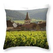 Village Of Monthelie. Burgundy. France Throw Pillow by Bernard Jaubert
