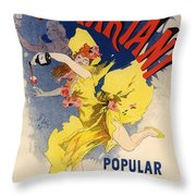 Vin Mariani Throw Pillow by Gianfranco Weiss