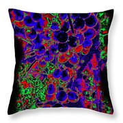 Vineyard Abstract Throw Pillow by Will Borden