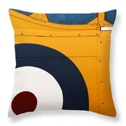Vintage Airplane Abstract Design Throw Pillow by Carol Leigh
