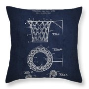 Vintage Basketball Goal Patent From 1951 Throw Pillow by Aged Pixel