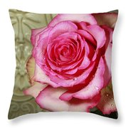 Vintage Beauty Rose Throw Pillow by Inspired Nature Photography By Shelley Myke