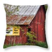 Vintage Throw Pillow by Bill Wakeley