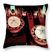 Vintage Bumpers Throw Pillow by Benjamin Yeager