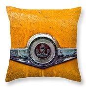 Vintage Checker Taxi Throw Pillow by John Farnan
