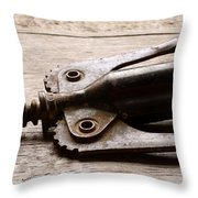 Vintage Corkscrew Throw Pillow by Jon Neidert