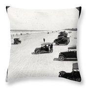 Vintage Daytona Beach Florida Throw Pillow by Edward Fielding