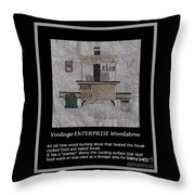Vintage ENTERPRISE Woodstove Throw Pillow by Barbara Griffin