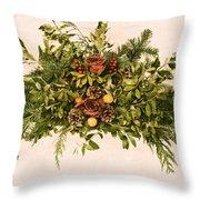 Vintage Floral Arrangement Throw Pillow by Olivier Le Queinec