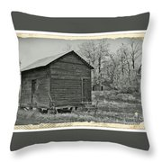 Vintage Frosty Morning 1 Throw Pillow by Chalet Roome-Rigdon