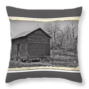 Vintage Frosty Morning 2 Throw Pillow by Chalet Roome-Rigdon