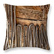 Vintage Harnessing Throw Pillow by Olivier Le Queinec