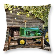 Vintage Throw Pillow by Kenny Francis