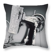 Vintage Machine Throw Pillow by Kelley King