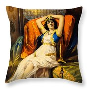 Vintage Nostalgic Poster - 8037 Throw Pillow by Wingsdomain Art and Photography