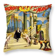Vintage Nostalgic Poster - 8038 Throw Pillow by Wingsdomain Art and Photography