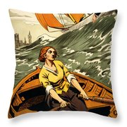Vintage Nostalgic Poster - 8045 Throw Pillow by Wingsdomain Art and Photography
