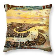 Vintage Nostalgic Poster - 8054 Throw Pillow by Wingsdomain Art and Photography