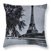 Vintage Paris Throw Pillow by Georgia Fowler