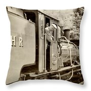 Vintage Railway Throw Pillow by Jane Rix