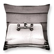 Vintage Sink Throw Pillow by Olivier Le Queinec