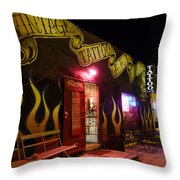 Vintage Tattoo Parlour Throw Pillow by Nina Prommer
