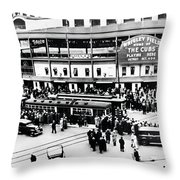 Vintage Wrigley Field Throw Pillow by Bill Cannon