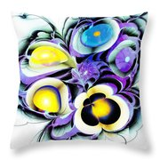 Viola Tricolor Throw Pillow by Anastasiya Malakhova