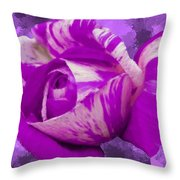 Violet and White Rose Throw Pillow by Bruce Nutting
