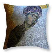 Virgin Mary Throw Pillow by Stephen Stookey