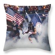 Virginia Cavaliers Football Team Entrance Throw Pillow by Jason O Watson