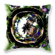 Visions Echo In The Crystal Ball Throw Pillow by Elizabeth McTaggart