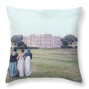 visiting Mr Darcy Throw Pillow by Joana Kruse