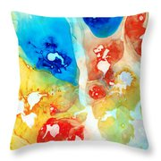 Vitality - Contemporary Art By Sharon Cummings Throw Pillow by Sharon Cummings
