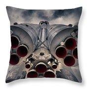 Vostok Rocket Engine Throw Pillow by Stelios Kleanthous