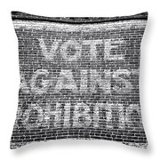 Vote Against Prohibition I Throw Pillow by John Rizzuto