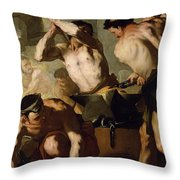 Vulcans Forge Throw Pillow by Luca Giordano